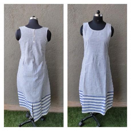 b0e897e96896 Blue and White Pinstripe Dress