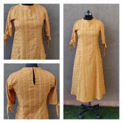 Mustard princess line dress