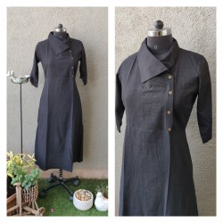 Black Shawl Collar Dress