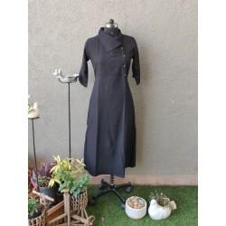 Black Shawl Collar Dress