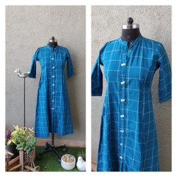 Blue Checks Kurti