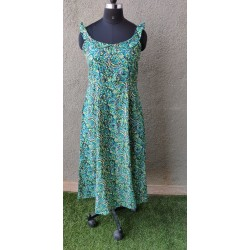 Green and Blue kalmakari dress