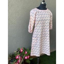 Light Pink Flamingo Print Short dress Side